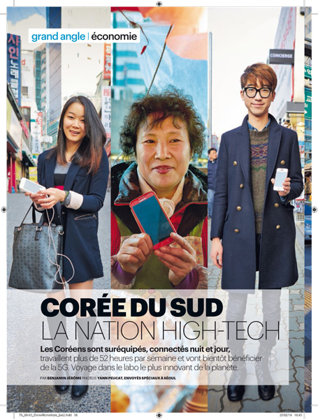 Le Parisien Magazine 2014 - article Séoul p.1